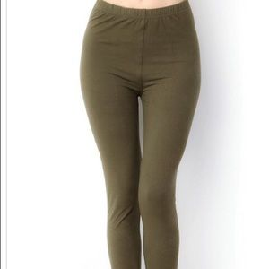 Pants - OLIVE LEGGINGS